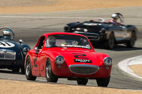 Pete Smith - 1960 Austin Healey Sebring Sprite Coupe in Group 1B - 1955-1962 GT Cars at the 2017 Rolex Monterey Motorsport Reunion run at Mazda Raceway Laguna Seca