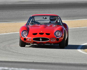 Tom Price with 1963 Ferrari 250 GTO in Group 2A - 1955-1962 GT Cars at the 2015-Rolex Monterey Motorsport Reunion, Mazda Raceway Laguna Seca