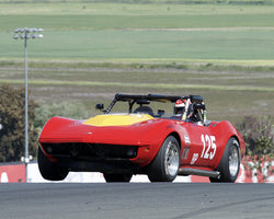 Matt Parent driving his 1969 Chevrolet Corvette in Group 3 at the 2015 CSRG David Love Memorial Vintage Car Road Races at Sonoma Raceway