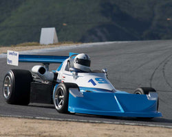 Carl Moore driving his March 76B in Group 2 at the 2015 HMSA Spring Club Event at Mazda Raceway Laguna Seca
