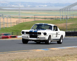 Charles Wegner with 1965 Shelby GT350 in Group 6 - 1962-1972 Production and GT Cars Over 2000cc at the 2015 Sonoma Historic Motorsports Festival at Sonoma Raceway