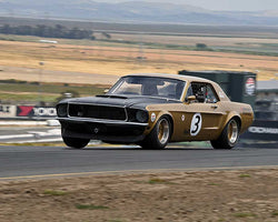 Ken Sutherland with 1968 Ford Mustang 427 in Group 6 - 1962-1972 Production and GT Cars Over 2000cc at the 2015 Sonoma Historic Motorsports Festival at Sonoma Raceway
