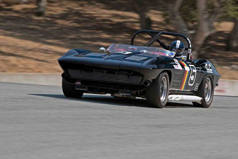 Jeffrey Abramson - 1964 Chevrolet Corvette Roadster in Group 4B - 1963-1966 GT Cars over 2500cc at the 2017 Rolex Monterey Motorsport Reunion run at Mazda Raceway Laguna Seca