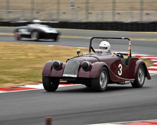 Tom Morgan with 1956 Morgan 4 in Group 1 - Small Bore Production Cars at the 2015 Portland Vintage Racing Festival at Portland International Raceway