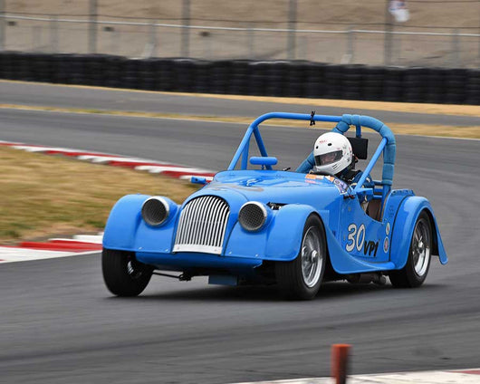 John Woodward with Morgan 4 Plus 4 in Group 1 - Small Bore Production Cars at the 2015 Portland Vintage Racing Festival at Portland International Raceway