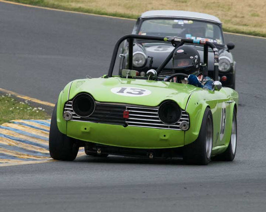 Mark Vaden with 1965 Triumph TR4 in Group 10 at the 2016 CSRG David Love Memorial - Sears Point Raceway