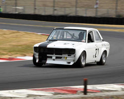 Martin Beaulieu with 1971 Datsun 510 in Group 8 - Production Sports Cars and Sedan 1973-1985 at the 2015 Portland Vintage Racing Festival at Portland International Raceway