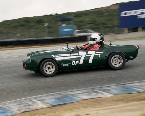 Dale Wallace with 1964 Triumph Spitfire in Group 3  at the 2016 HMSA Spring Club Event - Mazda Raceway Laguba Seca