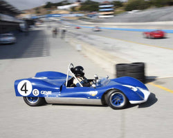 Rob Roth with 1963 Genie in Group 1 at the 2015 HMSA LSR Invitational II at Mazda Raceway Laguna Seca