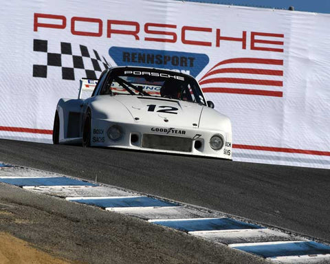 Bruce Canepa with 1979 Porsche 935 in Group 5 - Carrera Trophy at the 2015 Rennsport Reunion V, Mazda Raceway Laguna Seca