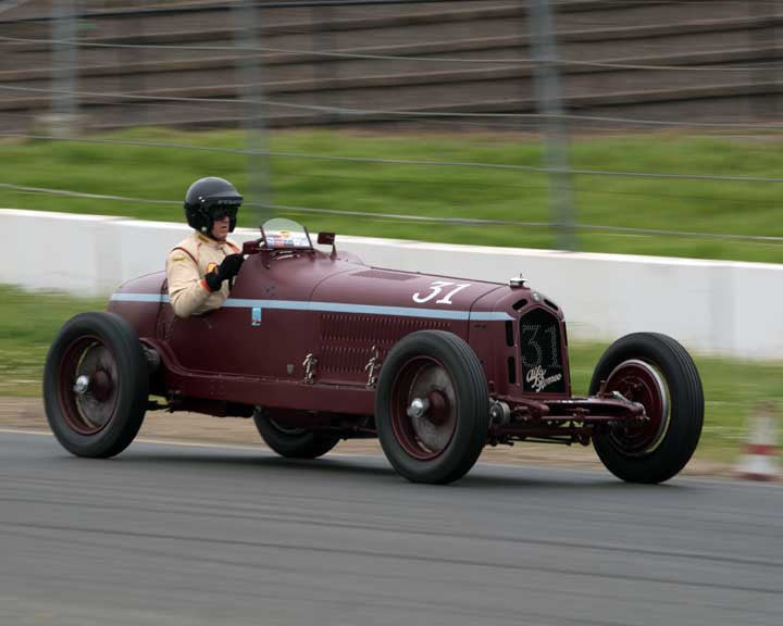 Peter Giddings with 1932 Alfa Romeo Monza in Group 9 - at the 2016 CSRG David Love Memorial - Sears Point Raceway