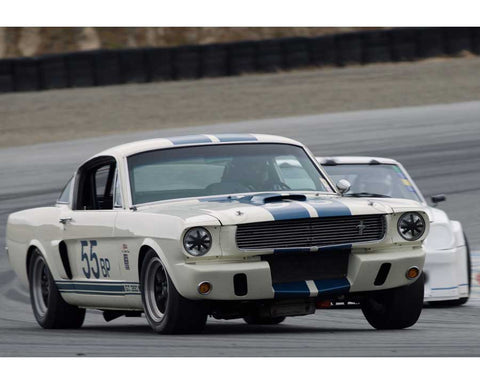 Tracy Chalmers driving his Shelby GT350 in Group 6 at the 2015 HMSA Spring Club Event at Mazda Raceway Laguna Seca