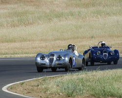 Dave Olsen driving his 1950 Jaguar XK120 at the 2015 CSRG Thunderhill Rolling Thunder at Thunderhill Raceway