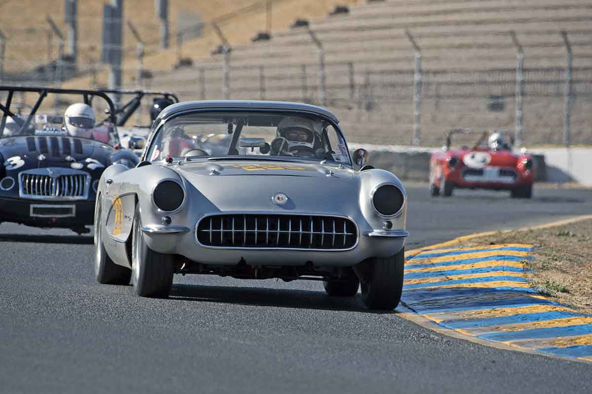Ron Erickson - 1957 Chevrolet Corvette in Group 1 -  at the 2016 Charity Challenge - Sonoma Raceway