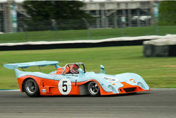 Chris MacAllister - 1972 Gulf Mirage M6 - Group 5 at the 2017 Brickyard Vintage Racing Invitationalrun at Indianapolis Motor Speedway