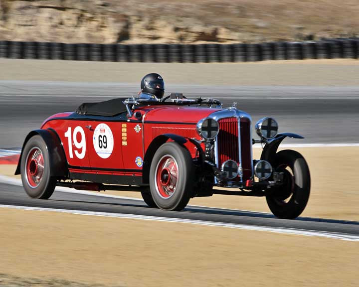 Howard Swig with 1931 Chrysler CDwith8 Le Mans in Group 1A - Pre 1940 Sports Racing and Touring Cars at the 2015-Rolex Monterey Motorsport Reunion, Mazda Raceway Laguna Seca