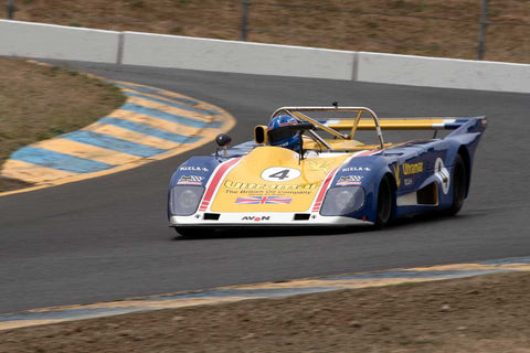 Mike Thurlow with 1973 Lola T294 in Group 11 at the 2016 SVRA Sonoma Historics - Sears Point Raceway