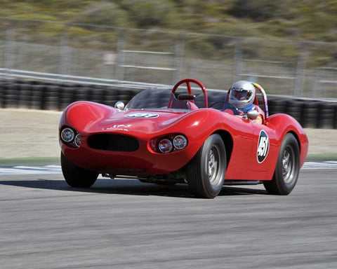 Wesley Abendroth with 1958 Bocar XP5 in Group 5A - 1955-1961 Sports Racing Cars over 2000cc at the 2015-Rolex Monterey Motorsport Reunion, Mazda Raceway Laguna Seca