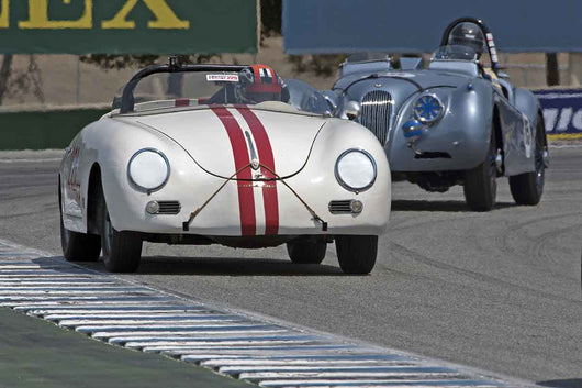 George Batcabe - 1956 Porsche Speedster in Group 1B  at the 2016 Rolex Monterey Motorsport Reunion - Mazda Raceway Laguna Seca