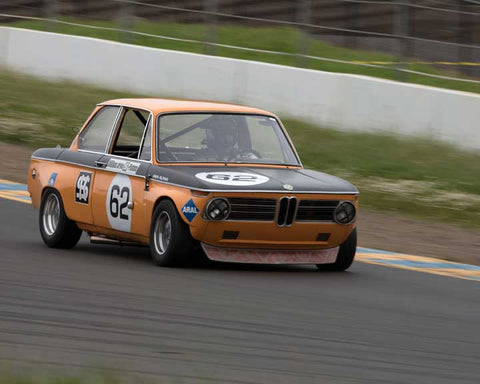 Terry Forland with 1968 BMW 2002 TA in Group 8 - at the 2016 CSRG David Love Memorial - Sears Point Raceway