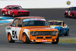 Taz Harvey - 1969 Datsun 510 - Group 8 at the 2017 Brickyard Vintage Racing Invitational run at Indianapolis Motor Speedway