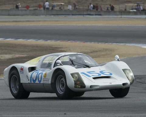 Charles Harris with 1966 Porsche Carrera 6 in Group 4 - Weissach Cup at the 2015 Rennsport Reunion V, Mazda Raceway Laguna Seca