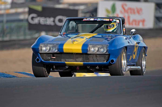 Bruce Miller - 1963 Chevrolet Corvette in Group 3 - Large Displacement Production Sports Cars through 1967 at the 2017 CSRG Charity Challenge run at Sonoma Raceway