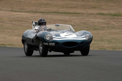 Chris MacAllister with 1955 Jaguar DwithType in Group 2  at the 2016 SVRA Sonoma Historics - Sears Point Raceway