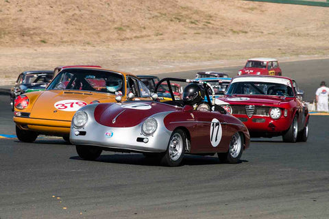 Max Jamiesson - 1957 Porsche 356 Speedster in Group 2 - Small Displacement Production Sports Cars through 1967 at the 2017 CSRG Charity Challenge run at Sonoma Raceway