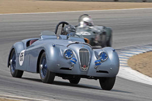 Brian Andrews - 1954 Jaguar XK 120 in Group 1B  at the 2016 Rolex Monterey Motorsport Reunion - Mazda Raceway Laguna Seca
