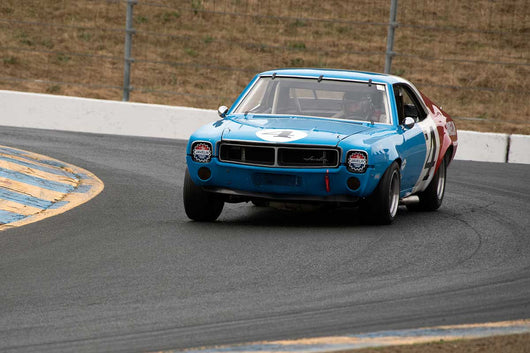 Joseph Conte with 1968 AMC Javelin in Group 10 at the 2016 SVRA Sonoma Historics - Sears Point Raceway