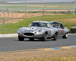 Nick Colonna with 1963 Jaguar XKE in Group 6 - 1962-1972 Production and GT Cars Over 2000cc at the 2015 Sonoma Historic Motorsports Festival at Sonoma Raceway
