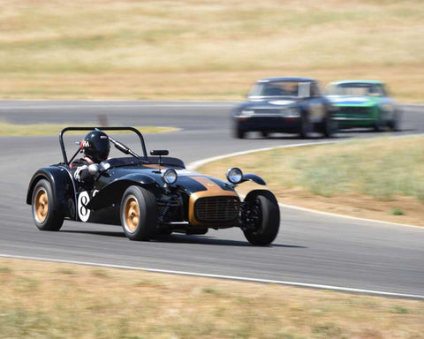 Paul Quackenbush driving his 1963 Lotus 7S in Group 3/8 at the 2015 CSRG Thunderhill Rolling Thunder at Thunderhill Raceway