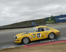 Kevin O'Callaghan driving his 1970 Porsche 911 in Group 3 at the 2015 HMSA LSR Inventional I at Mazda Raceway Laguna Seca
