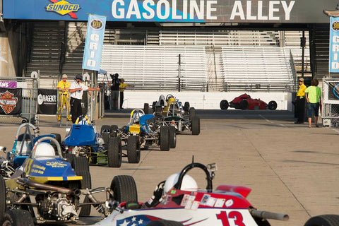 Group 2 at the 2017 Brickyard Vintage Racing Invitationalrun at Indianapolis Motor Speedway