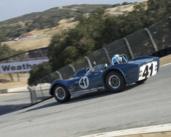 Greg Meyer driving his 1962 Dailu Mk2 in Group 3 at the 2015 HMSA LSR Inventional I at Mazda Raceway Laguna Seca
