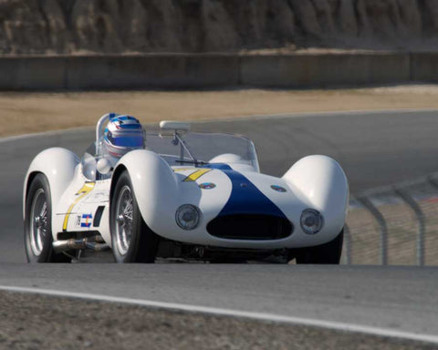 Jonathan Feiber driving his Maserati Birdcage in Group 1 at the 2015 HMSA Spring Club Event at Mazda Raceway Laguna Seca
