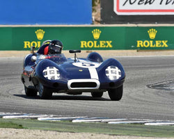 Frank Arciero Jr. with 1958 Lotus Eleven S2 in Group 3B - 1955-1961 Sports Racing Cars under 2000cc at the 2015-Rolex Monterey Motorsport Reunion, Mazda Raceway Laguna Seca