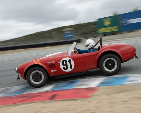 Tim Park driving his 289 Cobra in Group 6 at the 2015 HMSA Spring Club Event at Mazda Raceway Laguna Seca
