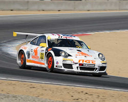 Mark Liano with 2011 Porsche GT3 Cup in Group 7 - Porsche GT3 Cup at the 2015 Rennsport Reunion V, Mazda Raceway Laguna Seca