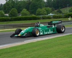 James Hagan with 1983 Tyrrell 011 in Group 6 Master F1 at the 2015 HMSA Barber Historics