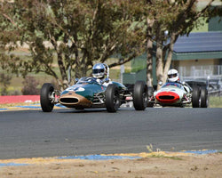 Tom Lee with 1963 Brabham BT6 in Group 8 - 1956-1963 Formula Junior cars at the 2015 Sonoma Historic Motorsports Festival at Sonoma Raceway