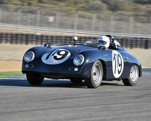 Ted Rodgers with 1957 Porsche Speedster in Group 2 - Gmund Cup at the 2015 Rennsport Reunion V, Mazda Raceway Laguna Seca
