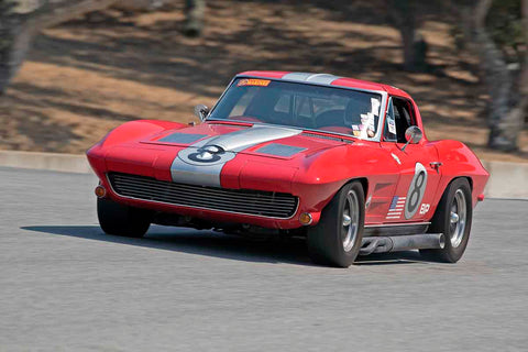 Daniel Haney - 1963 Chevrolet Corvette in Group 4B - 1963-1966 GT Cars over 2500cc at the 2017 Rolex Monterey Motorsport Reunion run at Mazda Raceway Laguna Seca