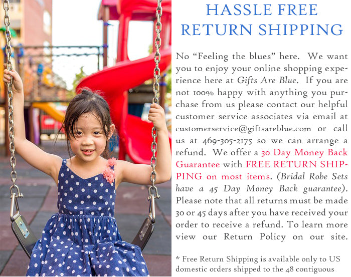 Gifts Are Blue Hassle Free Return Shipping