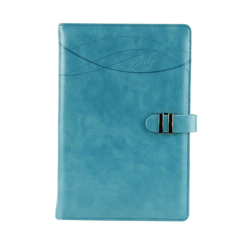 2016 New A5 Blue Leather Day Planner - Gifts Are Blue - 1