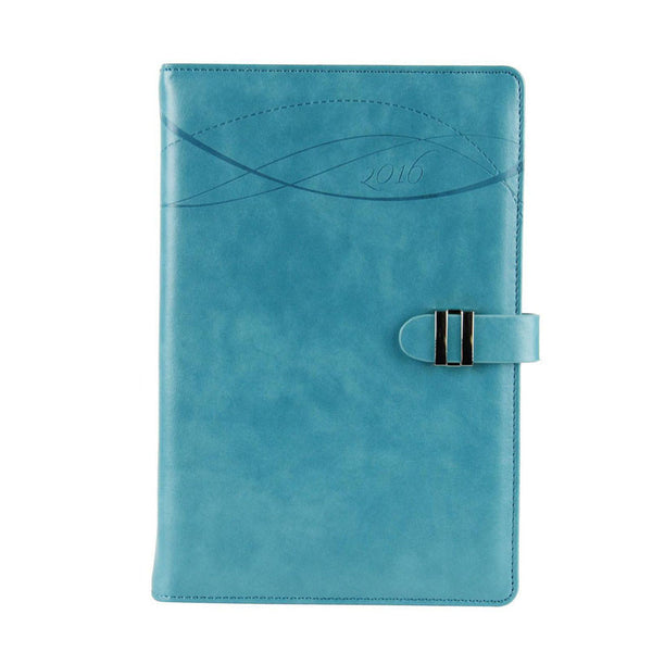 2016 New A5 Blue Leather Day Planner