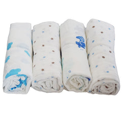 4 Pack Multiple Uses Pre-Washed Muslin Cotton Swaddle Blankets, Large, 47 x 47 - Gifts Are Blue - 2