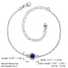 Elegant 925 Sterling Silver Blue Anklet Foot Chain - Gifts Are Blue - 5