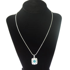 925 Sterling Silver Necklace with Ocean Blue Stone - Gifts Are Blue - 2